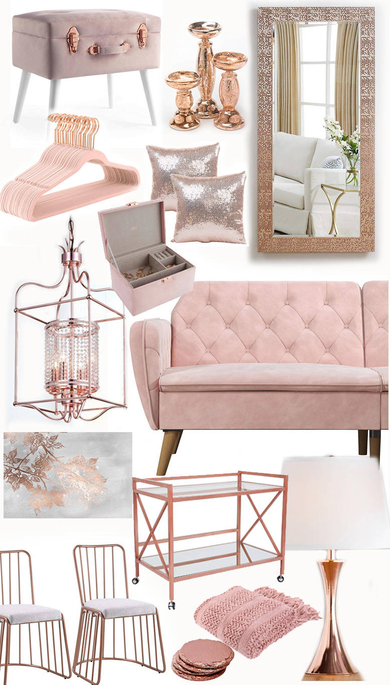 21 Swoon Worthy Blush And Rose Gold Furniture And Home