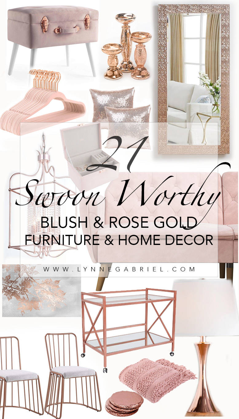 Blush and Rose Gold Furniture and Home Decor