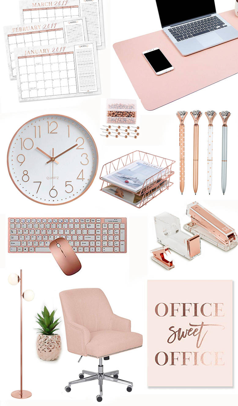 Image of: Rose Gold Desk And Office Accessories You Will Absolutely Love Whatever Is Lovely