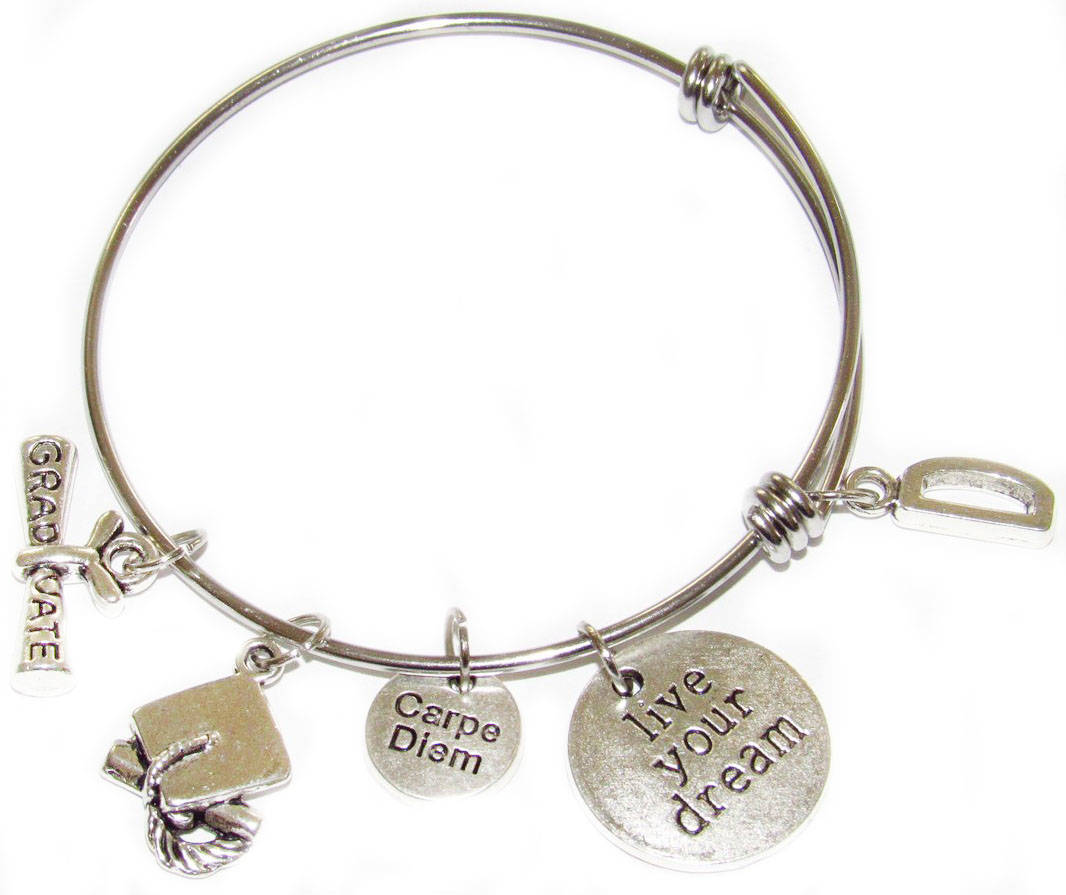 Personalized Graduation Bangle