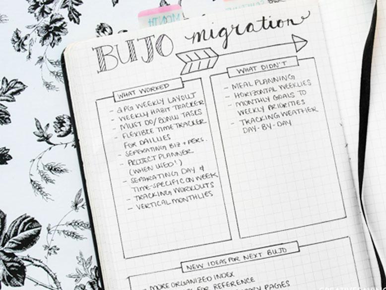 Bullet Journal Migration Idea
