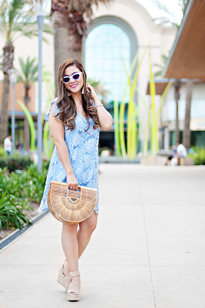Spring Outfit Inspiration: The Little Light Blue Lace Dress + 18 Other Light Blue Dresses You Will Love