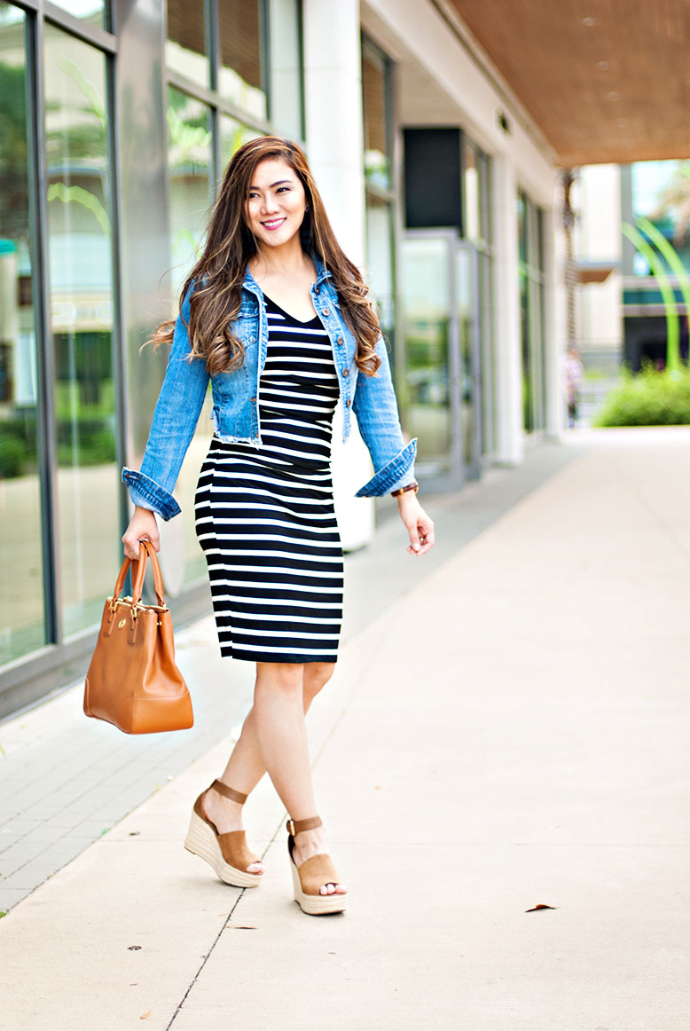 Black and White Shirt Dress for Spring and Summer