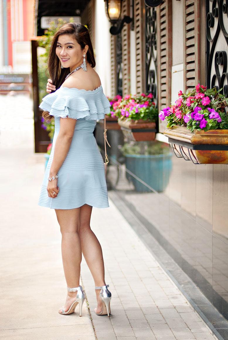 Eliza J Light Blue Dress