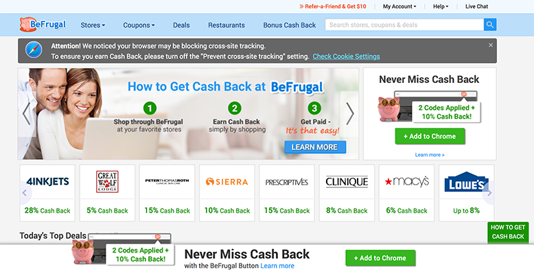 Be Frugal Cash Back App