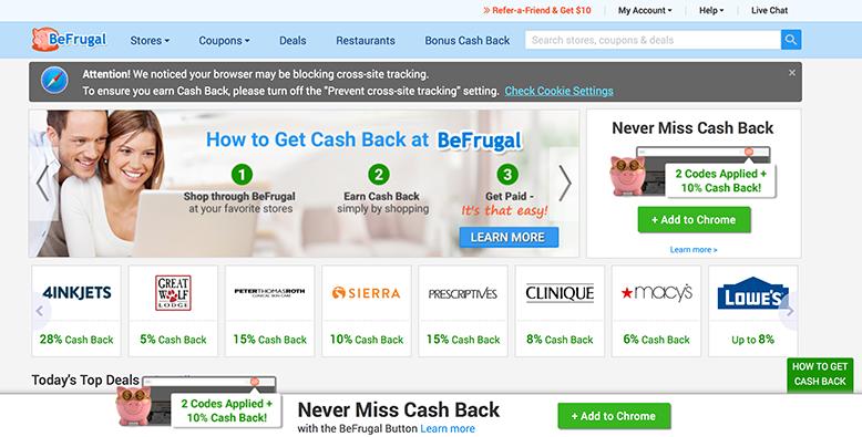 Be Frugal Cash Back App