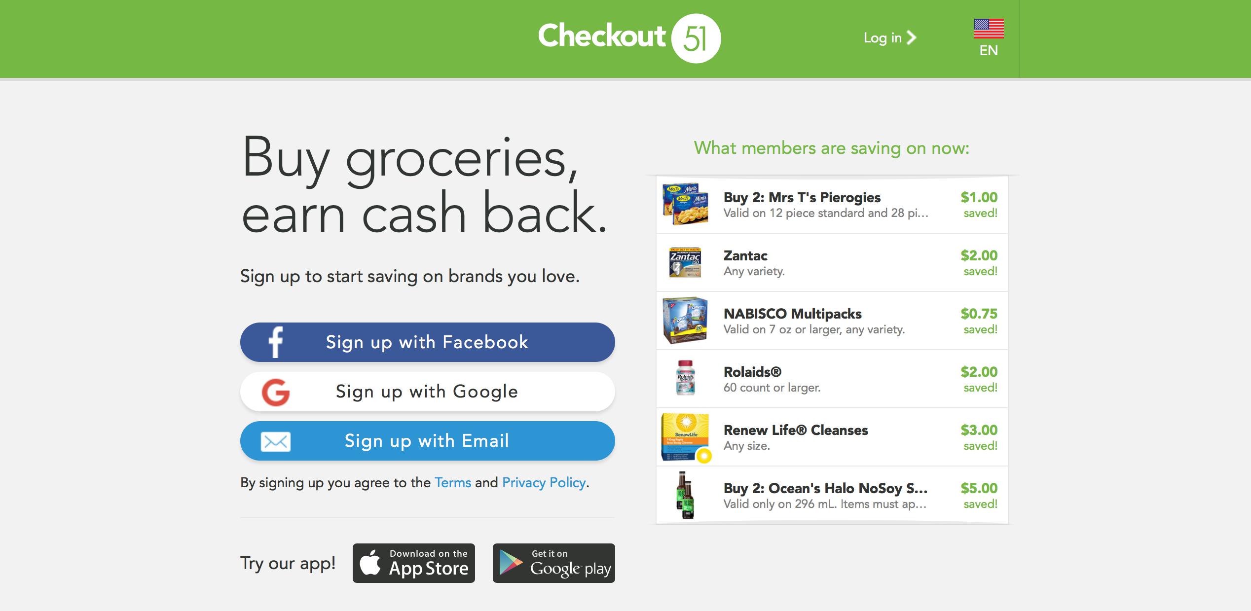 Checkout51 Cash Back App